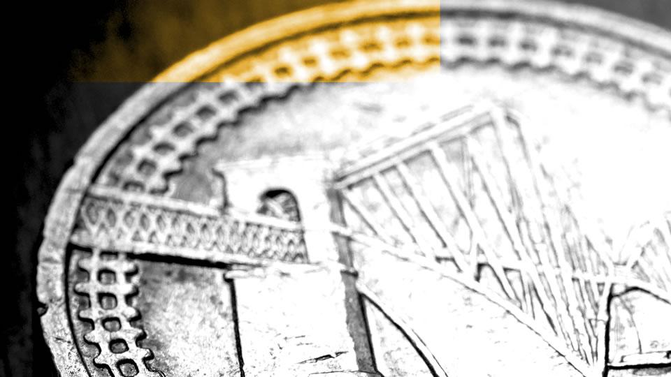 coin showing Forth rail bridge